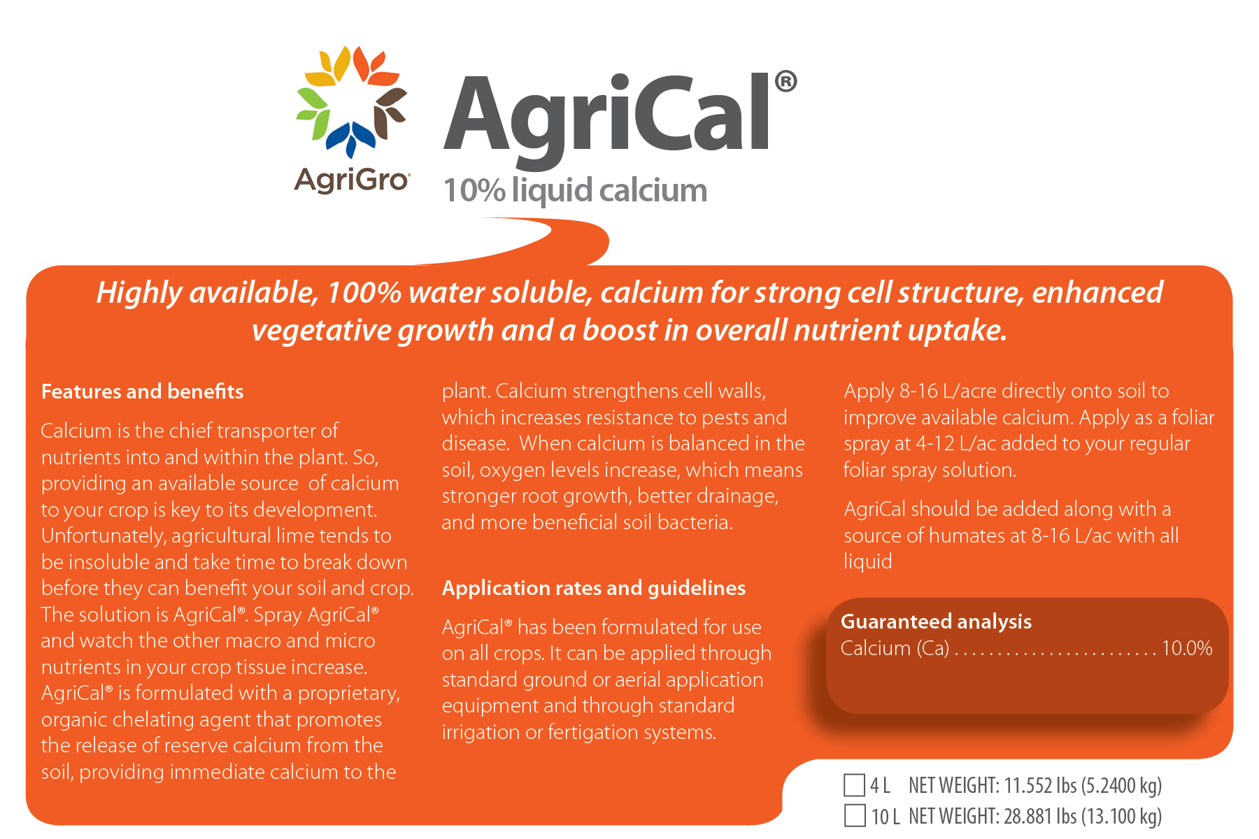 Agrical 10 Liquid Calcium Cell Structure Vegetal And Much More Interesting Information My Cart